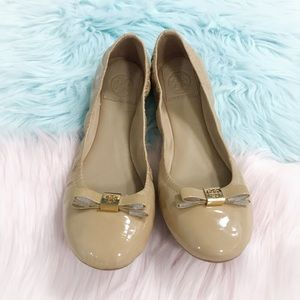 New Tory Burch Nude Ballet Flats